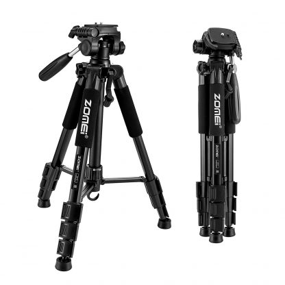 Extreme Professional Zomei Camera Tripod PTZ Portable Aluminum Telescopic Stand with Pan Head for Digital SLR Camera