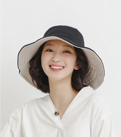 Sunscreen cover face double-sided sun hat