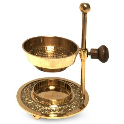 Deluxe Hand Made Pure Brass Tea Candle Incense Burner